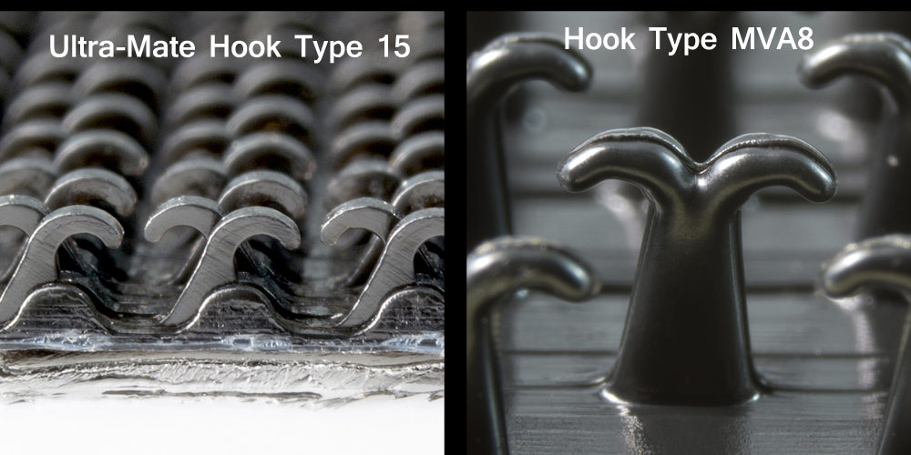 Low profile hook compared to a high profile hook.