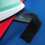 Sew on and iron on hook and loop are great for nametags.