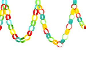 Get festive with a foam chain.